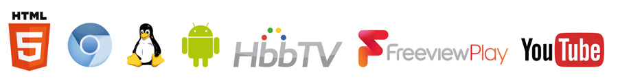 HTML5、YouTube on TV 2017、Android、HbbTV、Freeview Play