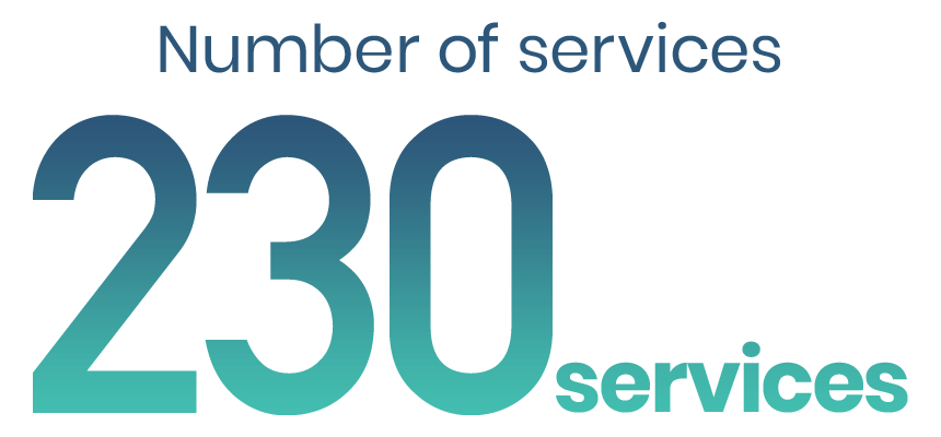 Number of services : 220 services
